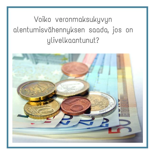 veronmaksukyvyn alentumisvähennys