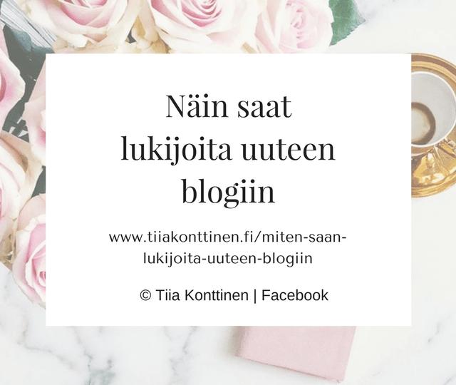 Miten saan lisää lukijoita uuteen blogiin?