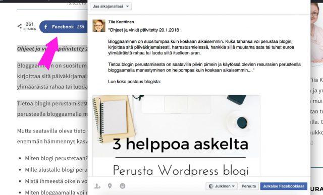 Aloita bloggaaminen