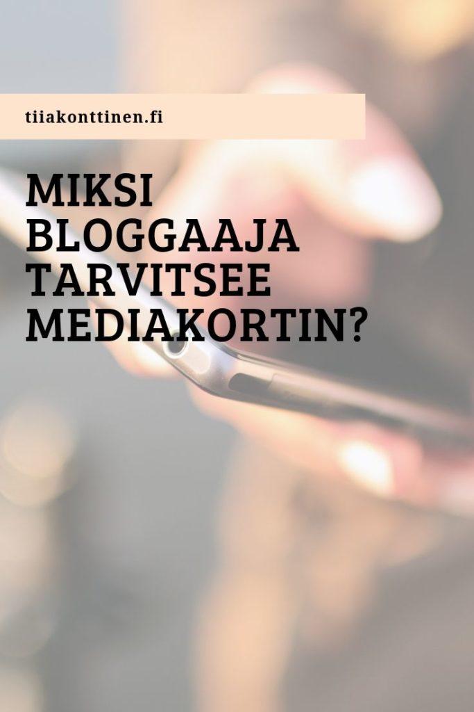 Miksi bloggaaja tarvitsee mediakortin