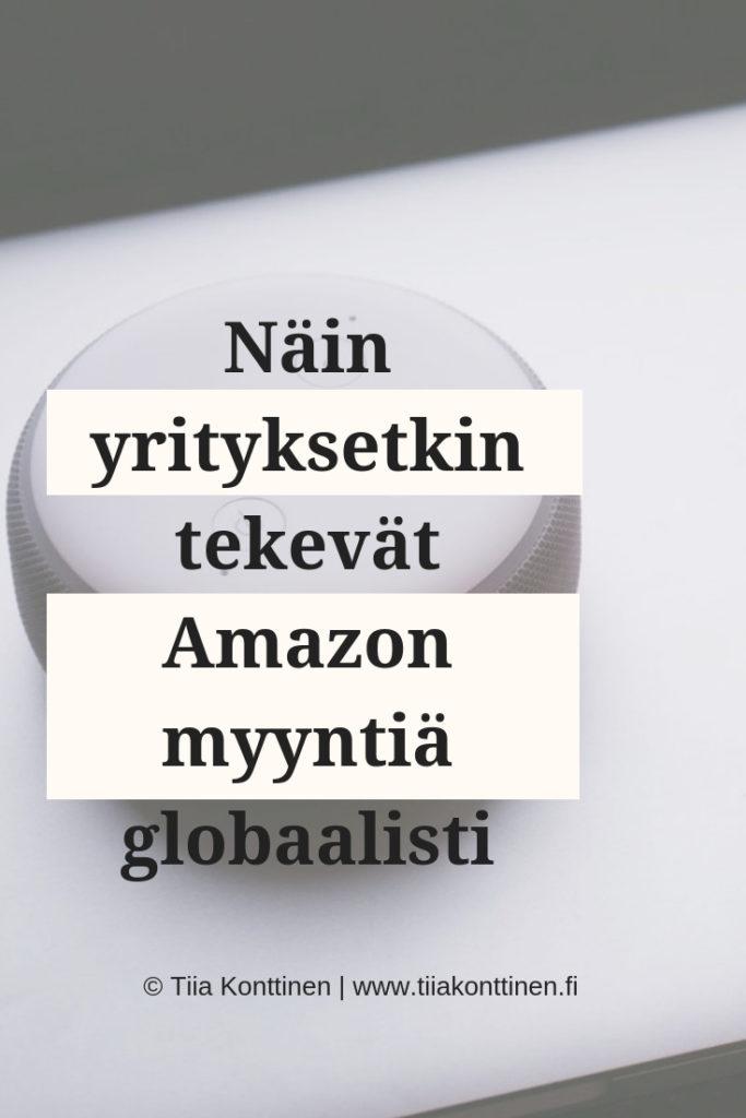 Näin yrityksetkin tekevät Amazon myyntiä globaalisti