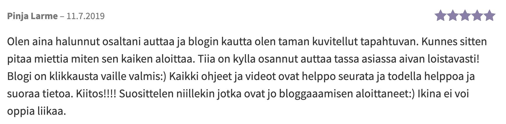 palaute_pinja